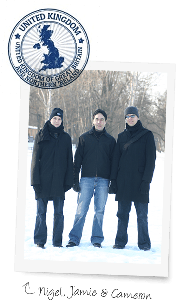The founders: Nigel, Jamie and Cameron
